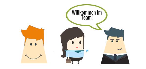 Willkommen im Team - erfolgreiche Mitarbeitersuche