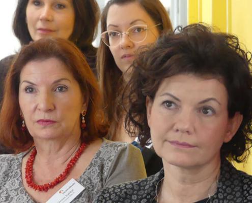 Andrea Haftner, Christa Habitzl, Sylvia Tille und Ingrid Blauensteiner beim Business-Frühstück im Februar 2020
