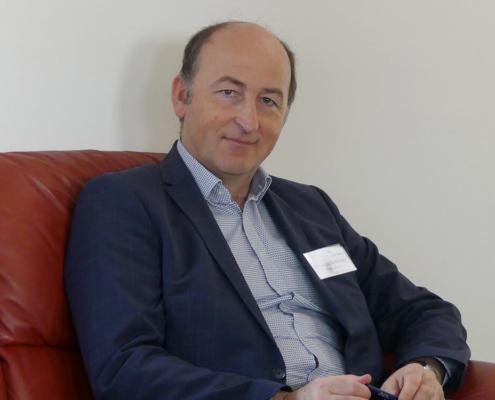Reinhard Keiblingert beim Business-Frühstück im Februar 2020