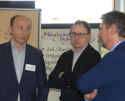 Besucher beim Business-Frühstück im Februar 2020 mit Reinhard Keiblinger